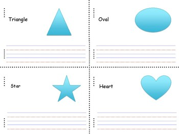 2D Shape Mini Book--Writing