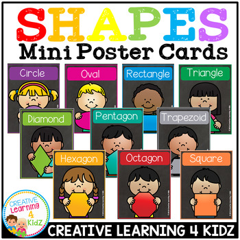 2D Shape Mini Poster Cards