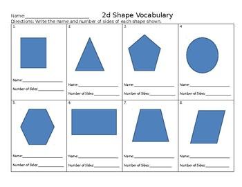 2D Shape Name