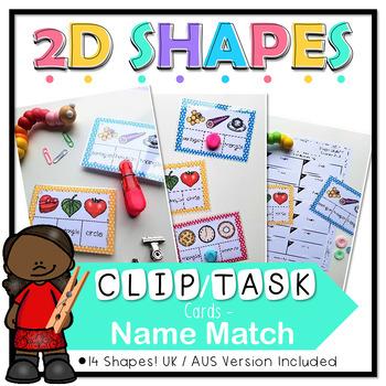2d Shapes Clip Cards, Task Cards