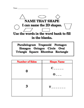 2D Shape Names