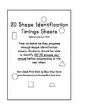 2D Shape Naming Timings