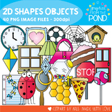 2D Shape Objects Clipart