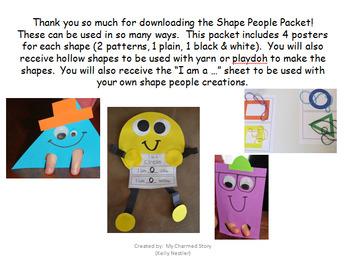 2D Shape People Packet