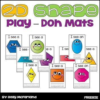 2D Shape Play-Doh Mats