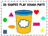 2D Shape Play-Dough mats