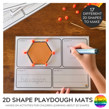 2D Shape Playdough Make It Count It Write It Mats