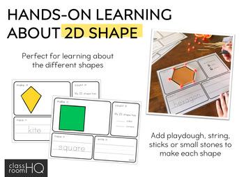 2D Shape Playdough Make It Count It Write It Mats