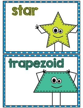2D Shape Posters- Blue