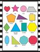 2D Shape Posters - 2D Shape Printables - Black and White Classroom Decor