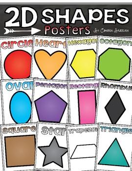 2D Shapes Poster Set