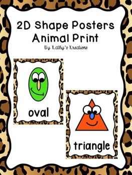 2D Shape Posters Animal Print FREE