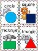 2D Shape Posters: Animal Theme