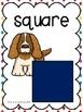 2D Shape Posters: Dog Theme