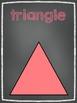 2D Shape Posters- Bright Chalkboard Theme!