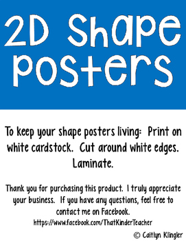 2D Shape Posters {Bright Edition}