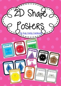 2D Shape Posters - Bright Spotty