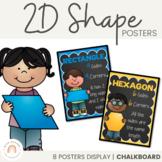 2D Shape Posters {Chalkboard}