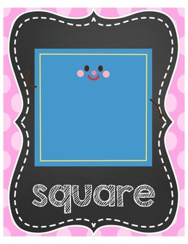 2D Shape Posters - Chalkboard and Brights