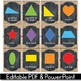 2D Shape Posters EDITABLE, Buralp and Chalkboard Classroom Decor