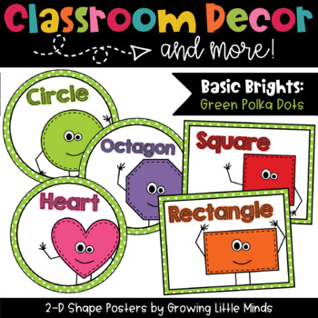 2D Shape Posters- Green