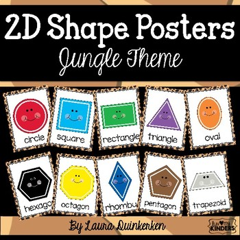 2D Shape Posters Jungle Theme