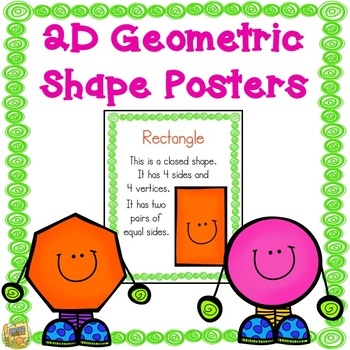 2D Shape Posters - Just print and GO!