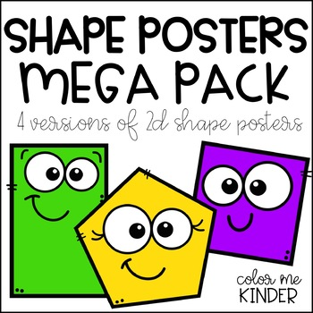 Shape Posters - 4 Versions Included