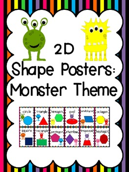 2D Shape Posters: Monster Theme