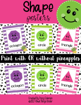 2D Shape Posters {Pineapple Optional}
