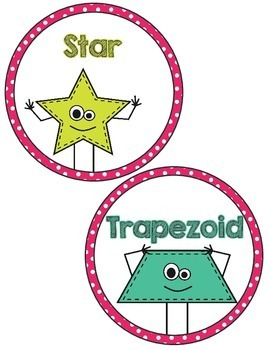 2D Shape Posters- Pink