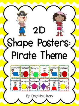 2D Shape Posters: Pirate Kids Theme