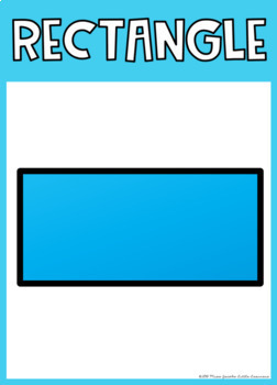 2D Shape Posters {Rainbow Classroom Decor}