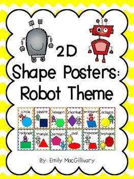 2D Shape Posters: Robot Theme