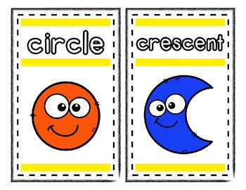 2D Shape Posters Set 1 * Create Your Own Room * Preschool Daycare