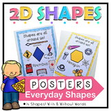 2D Shape Posters, Shapes in Everyday Objects