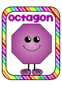 2D Shape Posters - Shapes with Feet