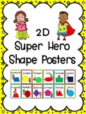 2D Shape Posters: Super Hero Kids Theme