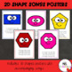 2D Shape Posters With Songs