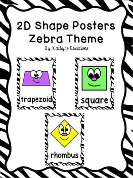 2D Shape Posters With Zebra Trim