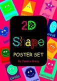 2D Shape Posters and Flash Cards