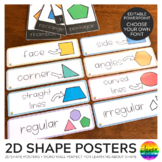 2D Shape Editable Posters and Word Wall Cards