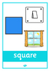 2D Shape Posters with Everyday Examples