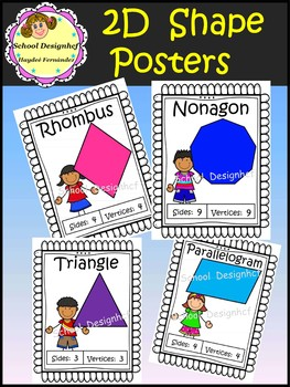 2D Shape Posters with Kids (School Designhcf)