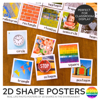 2D Shape Posters with Real Life Photos