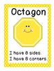 2D Shape Posters with picture and description for Maths Wall
