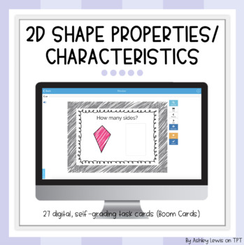 Shape Properties/Characteristics Task Cards (Boom Cards)