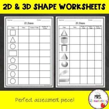 2d and 3d shape properties worksheets by mrs strawberry tpt. Black Bedroom Furniture Sets. Home Design Ideas