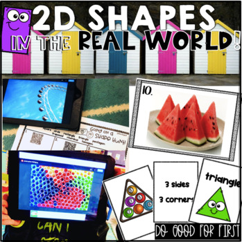 2D Shape Digital Math Stations {QR Code Hunts ~ Real World Photos!}