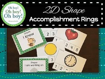 2D Shape Recognition Accomplishment Ring Cards